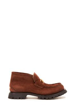 Коричневые ботинки с пряжкой Gucci Man 2674154112