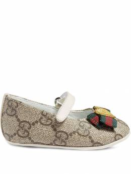 Gucci Kids балетки 'Baby GG Supreme' 418995KLQ80