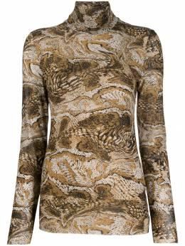 Ganni - рубашка-поло с графичным принтом 09955039300000000000
