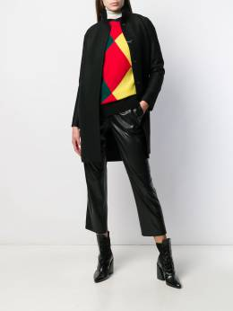 Harris Wharf London - concealed button coat 90MLKY95599958000000