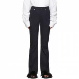 Mm6 Maison Margiela Blue 5-Pocket Dress Pants 192188F08701905GB