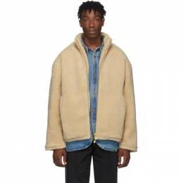 Han Kjobenhavn Beige Fleece Track Jacket 192827M18000501GB