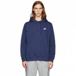 Nike Navy Club Hoodie 192011M20200504GB