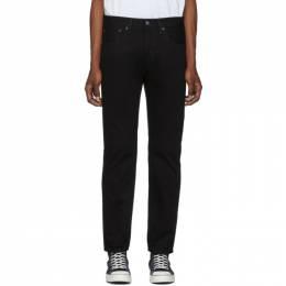 Levi's Black 501 Slim Taper Jeans 192099M18601105GB