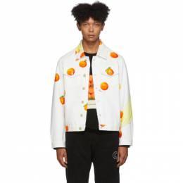 Casablanca White Denim Encore Les Oranges Jacket 192195M17700101GB