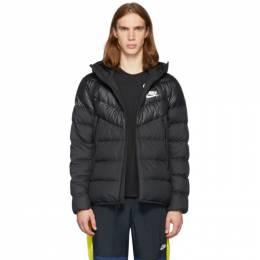 Nike Black Down Windrunner Jacket 192011M17800103GB