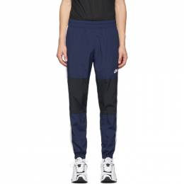 Nike Navy and Black Re-Issue Woven Track Pants 192011M19001706GB