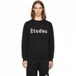 Etudes Black Story Logo Sweatshirt 192647M20400202GB
