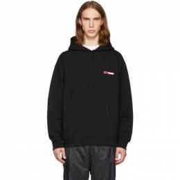 Opening Ceremony SSENSE Exclusive Black and Pink Logo Hoodie 192261M20201304GB
