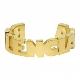 Balenciaga Gold Typo Bracelet 192342M14200803GB