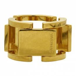 Balenciaga Gold Flat Ring 192342M14700502GB