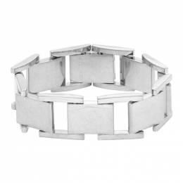 Balenciaga Silver Flat Bracelet 192342M14200503GB