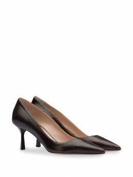 Miu Miu - туфли-лодочки с эффектом трещин 33CF6655TZ9559653300