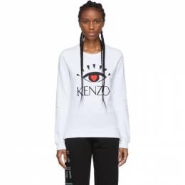 Kenzo White Limited Edition Cupid Eye Sweatshirt 192387F09801404GB