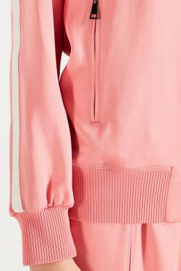 Розовая олимпийка с контрастной отделкой Moncler 34147942