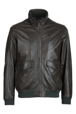 Коричневая куртка из кожи Strellson 585155179