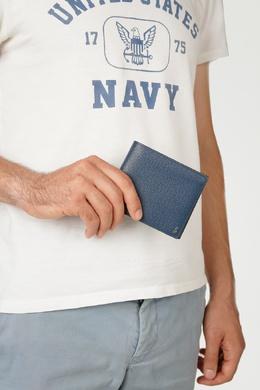 Складное портмоне синего цвета Serapian 2443154583