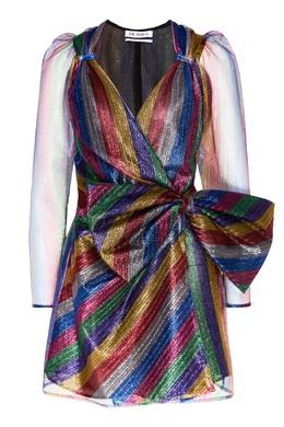 Блестящее платье из разноцветного тюля Attico 1869154993
