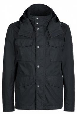 Черная куртка с карманами и капюшоном Strellson 585155176