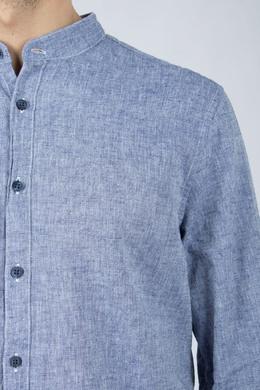 Синяя рубашка с воротником-стойкой Strellson 585155199