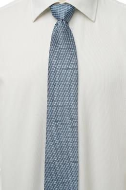 Голубой галстук с абстрактным узором Brioni 1670154633
