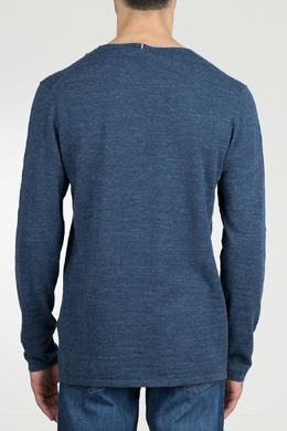 Синий лонгслив с накладным карманом Strellson 585155202