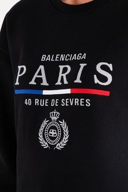 Черный свитшот с логотипом Balenciaga 397154743