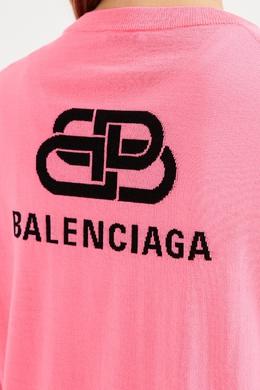 Базовый розовый джемпер из шерсти Balenciaga 397154735