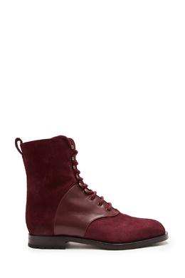 Замшевые бордовые ботинки Pocola Manolo Blahnik 166153683