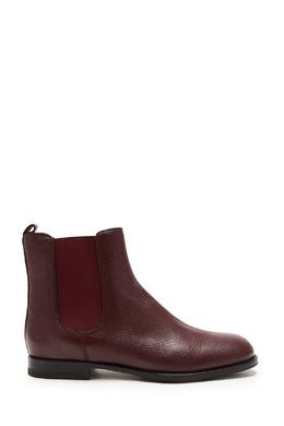 Бордовые кожаные ботинки-челси Chelsa Manolo Blahnik 166153689