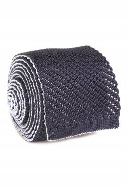 Вязаный темно-синий галстук Brioni 1670154649