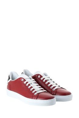 Красные кеды с контрастной отделкой Roberto Cavalli 314155162