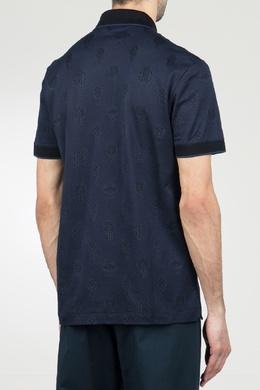 Темно-синее поло с контрастной отделкой Roberto Cavalli 314155141