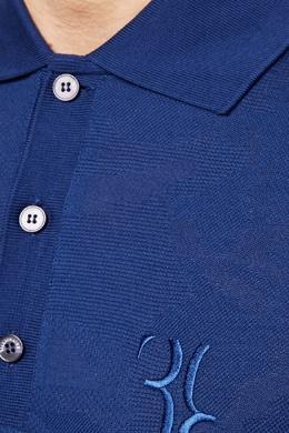 Синяя хлопковая футболка-поло Billionaire 1668116979