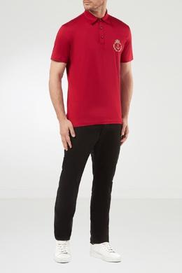 Красная футболка-поло с вышивкой Billionaire 1668116988