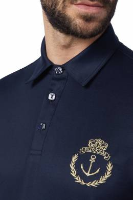 Синяя футболка-поло из джерси Billionaire 1668116989