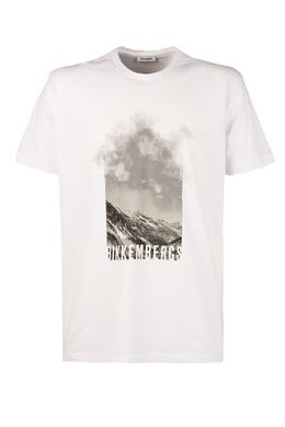 Белая футболка с принтом Bikkembergs 1487128411