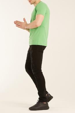 Зеленая футболка с принтом Bikkembergs 1487128391