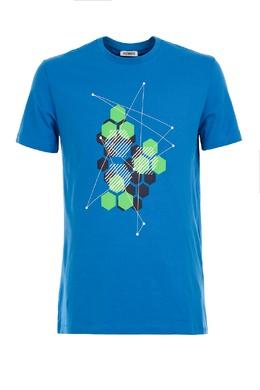 Голубая футболка с принтом Bikkembergs 1487128402