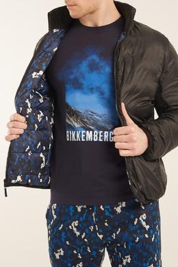 Темно-синяя футболка с принтом Bikkembergs 1487128413