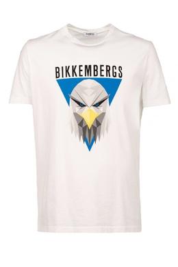 Белая футболка с принтом Bikkembergs 1487128466