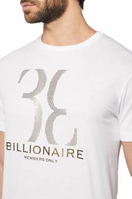 Футболка с серебристым принтом Billionaire 1668131813