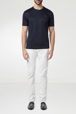Темно-синяя хлопковая футболка Billionaire 1668131796