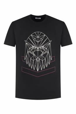 Черная футболка с логотипом Bikkembergs 1487128419