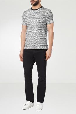 Черно-белая футболка с принтом Billionaire 1668138664