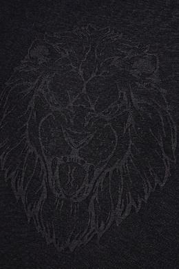Черная футболка со львом Billionaire 1668138633