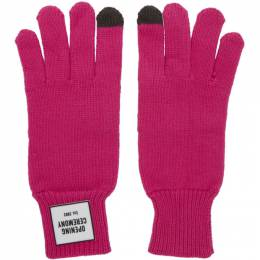 Opening Ceremony Pink Knit Logo Gloves 192261F01200201GB
