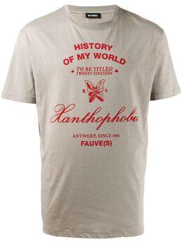 Raf Simons футболка с надписью 11519001