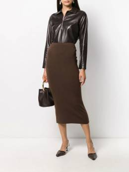 Toteme - fitted midi skirt 30035595596998000000