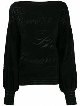 Blumarine - logo pattern textures jumper 09550698900000000000